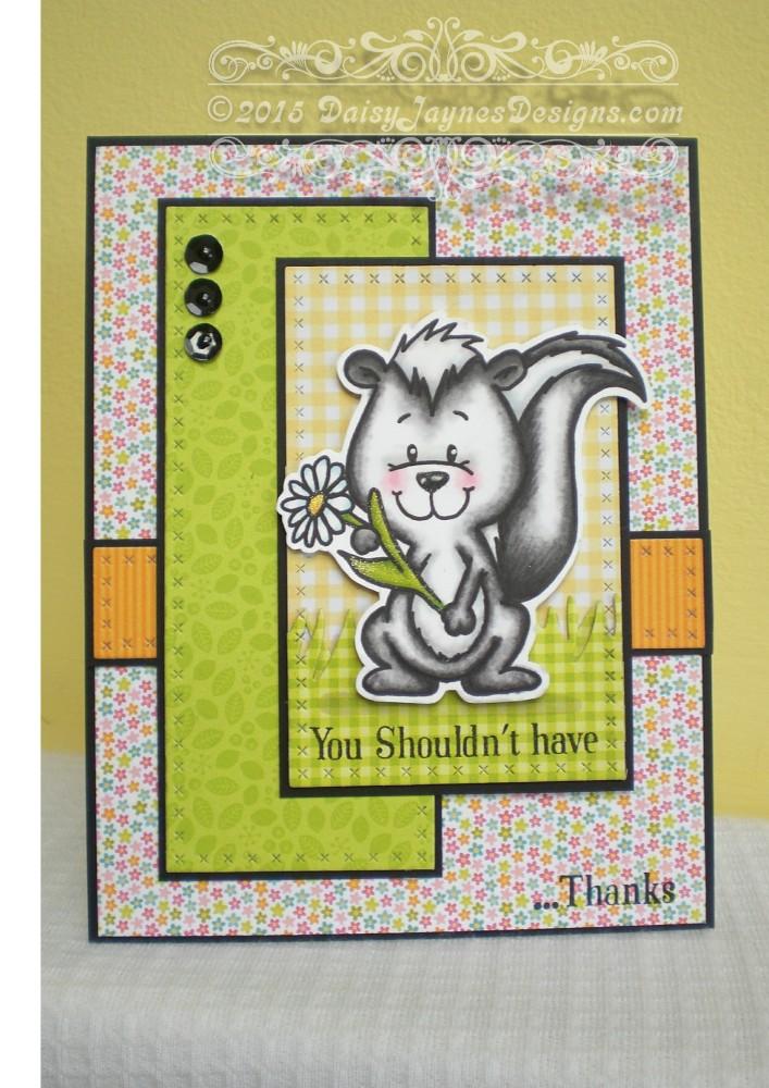 Card share #6 Gerda Steiner Skunk Digital Stamp (3/4)