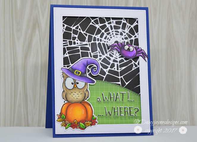 GSD Owl:spider halloween DT