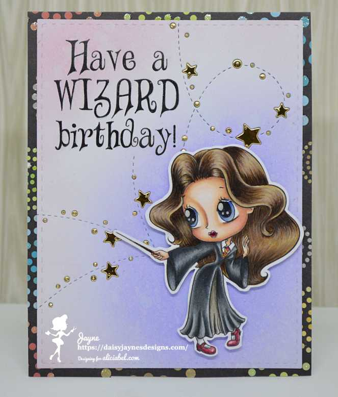 ABel DT potter girl card